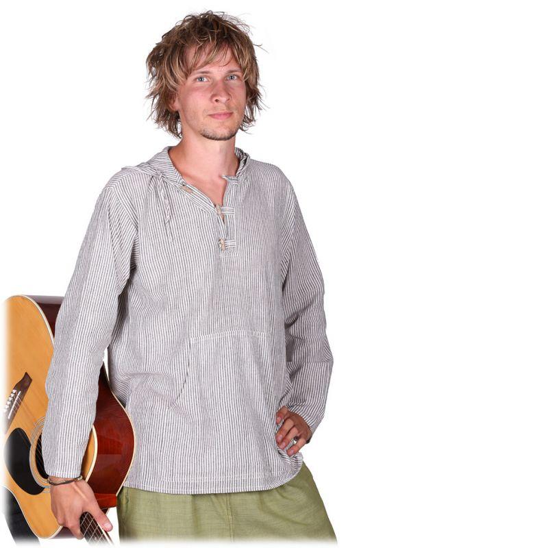Kurta Ganet Garis - pánská košile s dlouhým rukávem