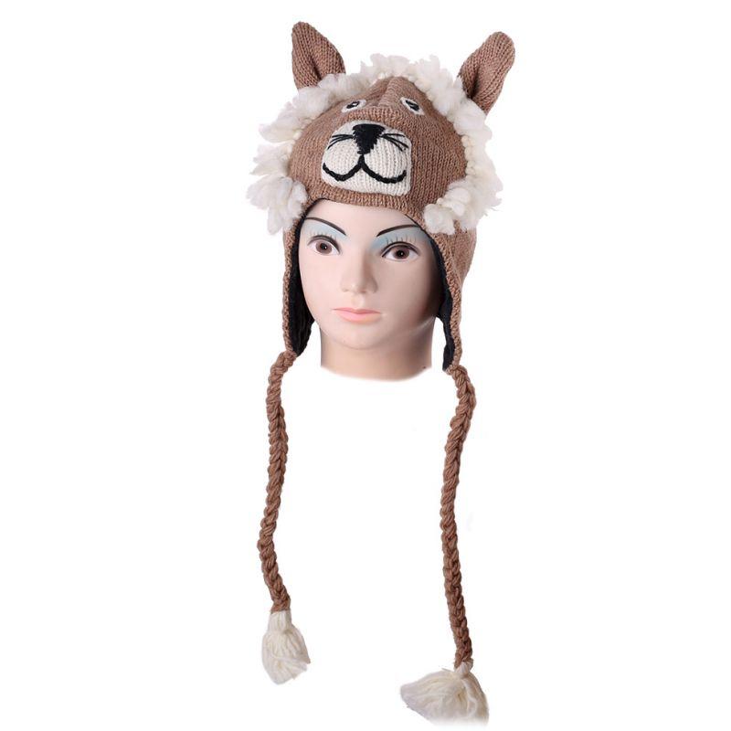 Vlněná čepice Lev - béžová
