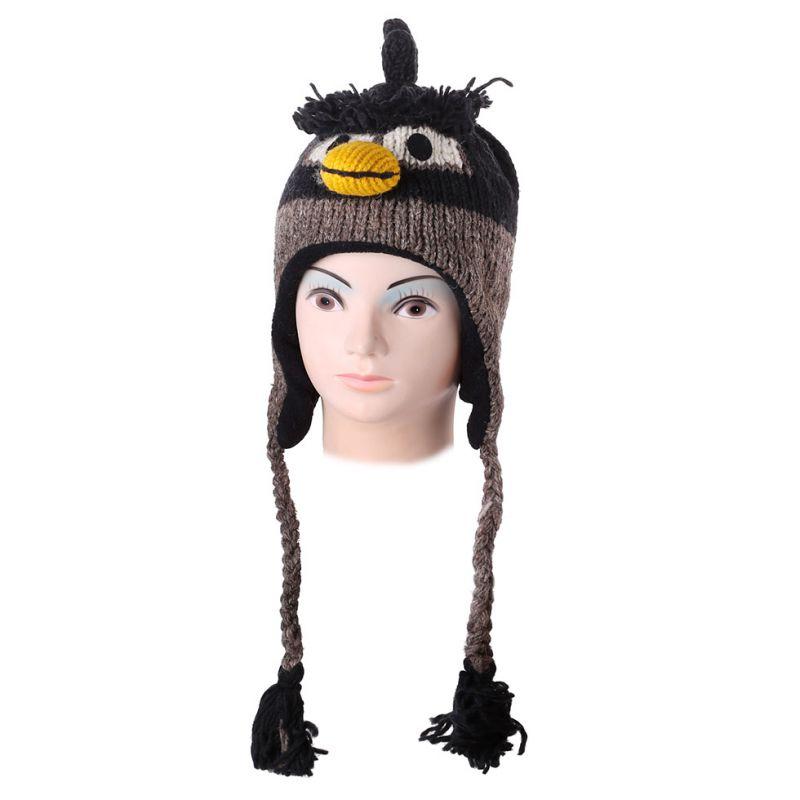 Vlněná čepice Angry Bird - černá