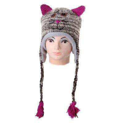 Čepice Kočka - mourovatá