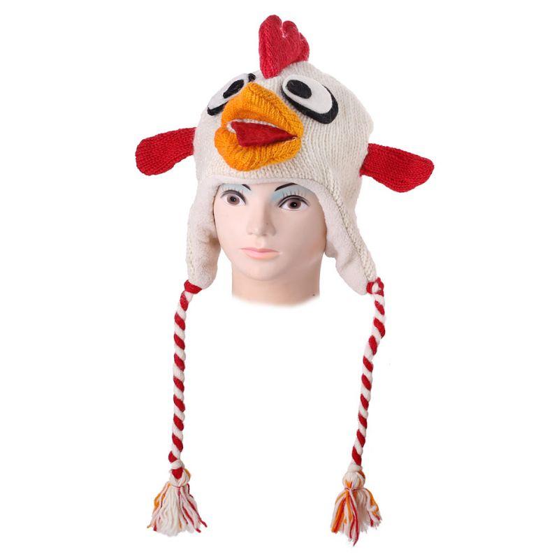 Vlněná čepice Angry Bird - bílá