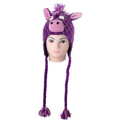 Čepice Žirafa - fialová
