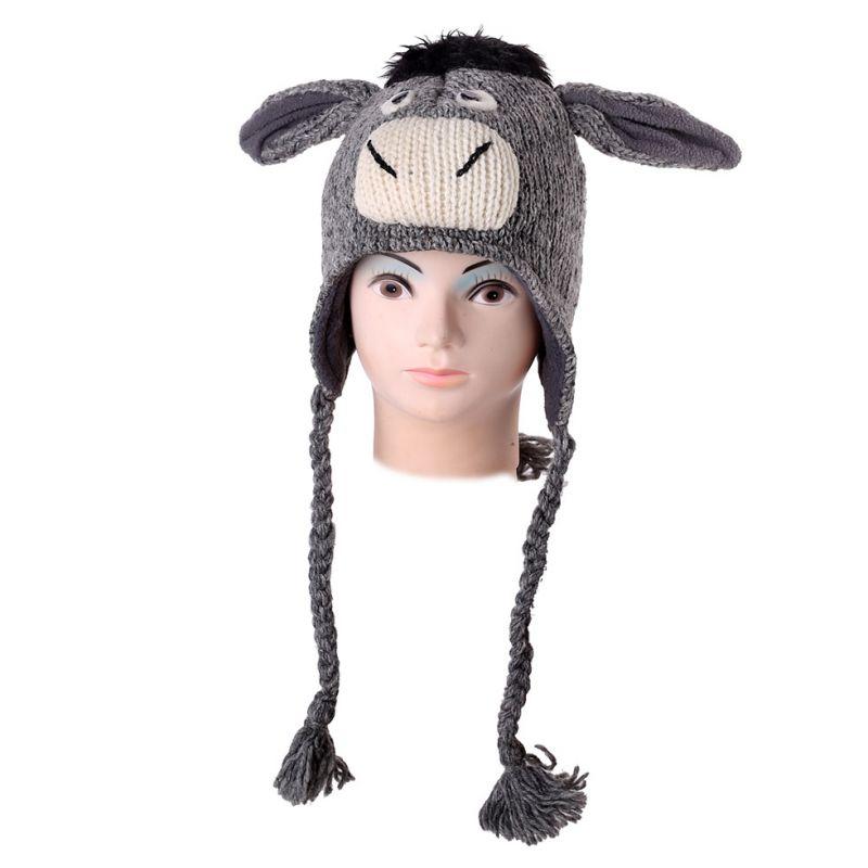 Vlněná čepice Oslík
