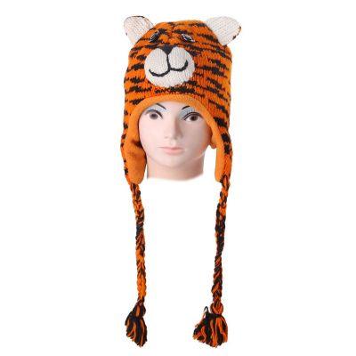 Vlněná čepice Tygr