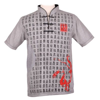 Tričko Emperor Pinyin Grey