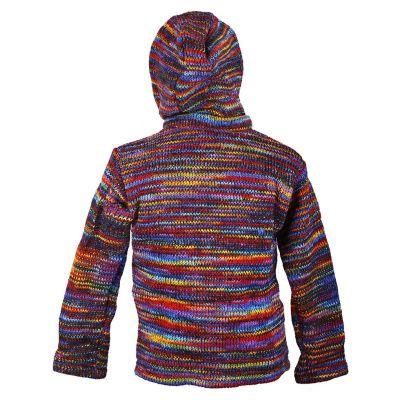 Vlněný svetr Rainbow Shine Nepal