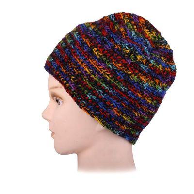 Vlněná čepice Arna Rainbow