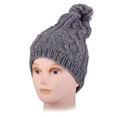 Vlněná čepice Lembar Grey