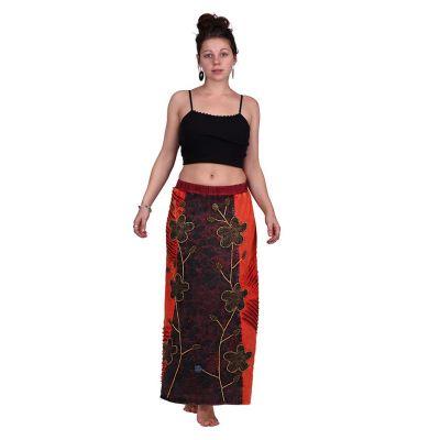 Dlouhá vyšívaná etno sukně Surga Merah