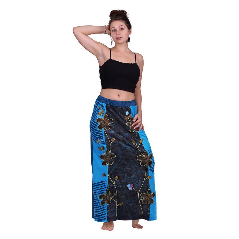 Dlouhá vyšívaná etno sukně Surga Biru