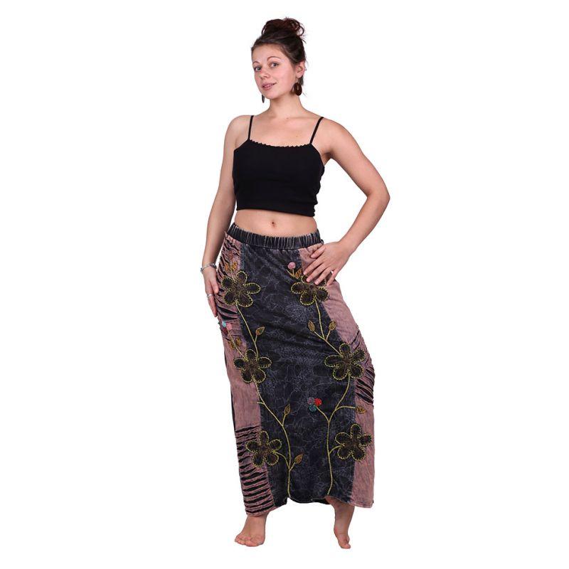 Dlouhá vyšívaná etno sukně Surga Hutan