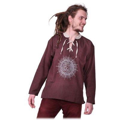 Kurta Matahari Hutan - pánská košile s dlouhým rukávem Nepal