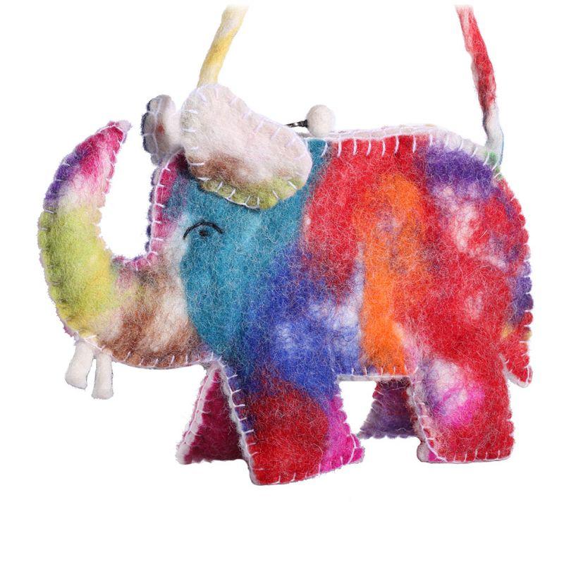 Plstěná kabelka Pestrobarevný slon