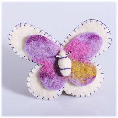 Brož Motýl Bílý