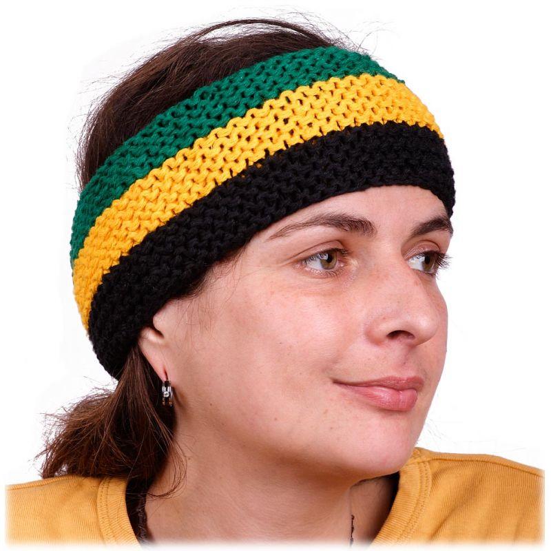 Čelenka Green-Yellow-Black
