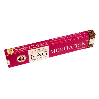 Vonné tyčinky Golden Nag Meditation | Krabička 15 g, Balení 12 krabiček za cenu 10