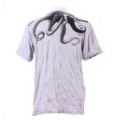 Pánské tričko Sure Octopus Attack Grey