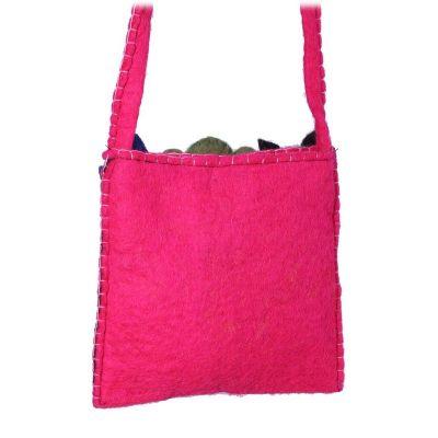 Plstěná dětská kabelka Zvířátka Růžová