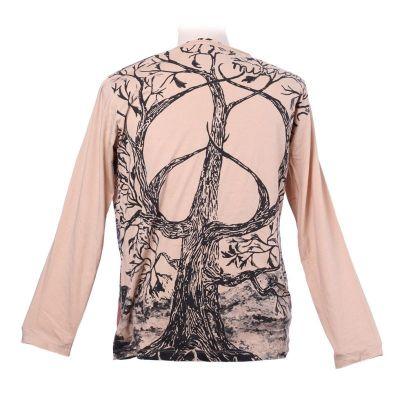 Tričko Mirror s dlouhým rukávem - Tree of Peace Beige