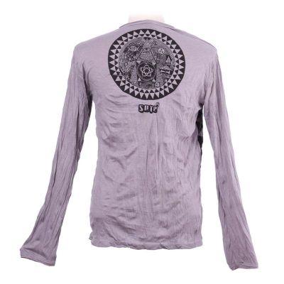 Pánské tričko Sure s dlouhým rukávem - Pyramid Grey