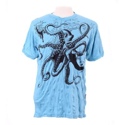 Tričko Octopus Attack Turquoise