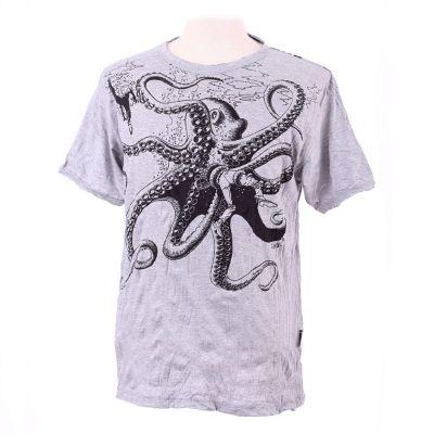 Pánské tričko Sure Octopus Attack Grey | M, L, XL, XXL