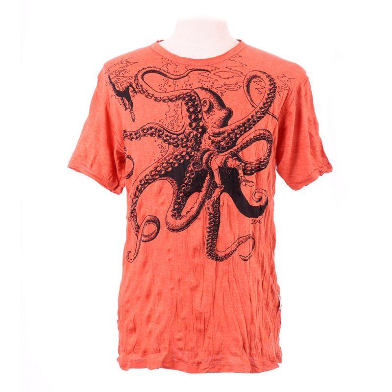 Pánské tričko Sure Octopus Attack Orange
