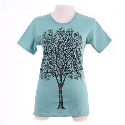 Tričko Owl Tree Green