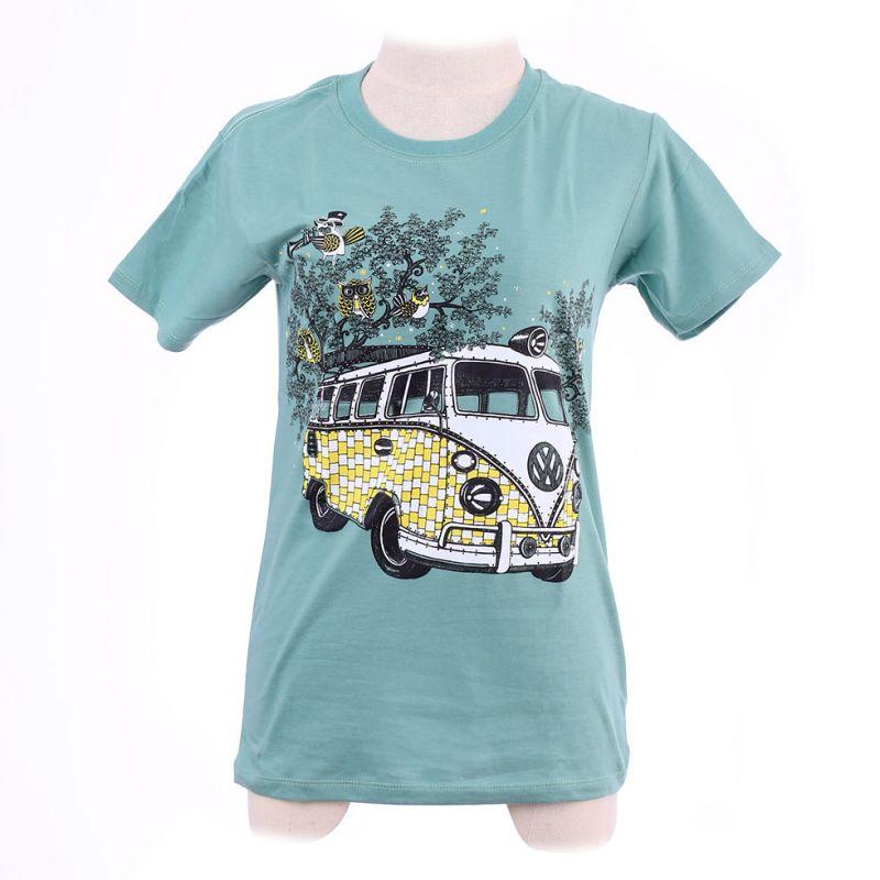 Dámské tričko Hippies Bus Green
