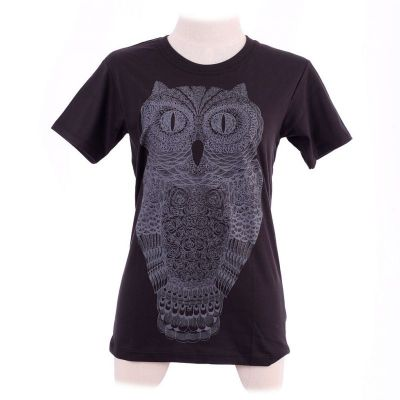 Tričko Big Owl Black