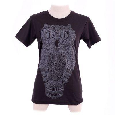 Dámské tričko Big Owl Black | L