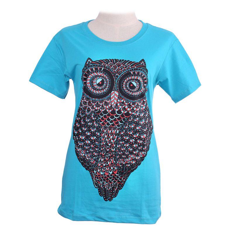 Dámské tričko Big Owl Turquoise