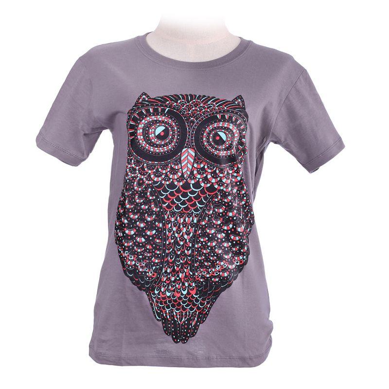 Dámské tričko Big Owl Grey