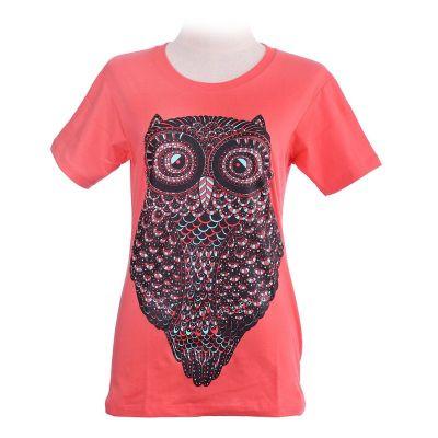 Tričko Big Owl Pink