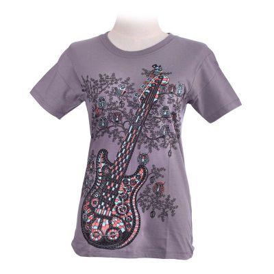 Dámské tričko Guitar Grey | S, L