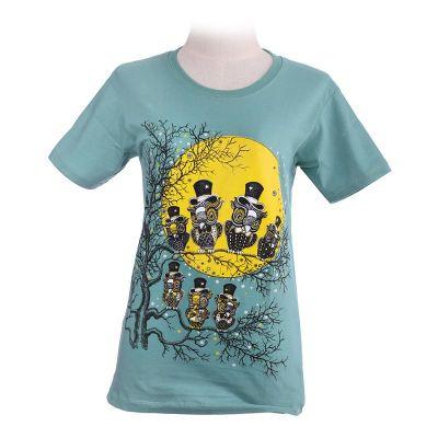 Dámské tričko Full Moon Green | XS