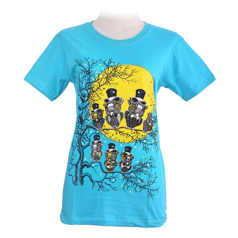 Dámské tričko Full Moon Turquoise