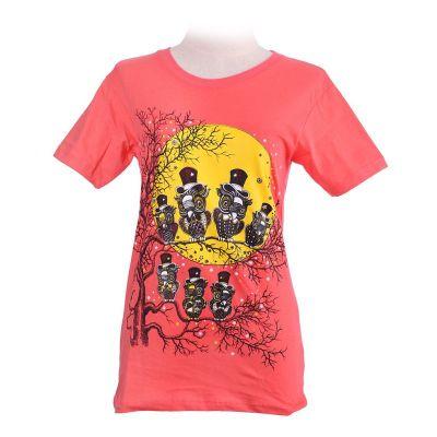 Dámské tričko Full Moon Pink | XS