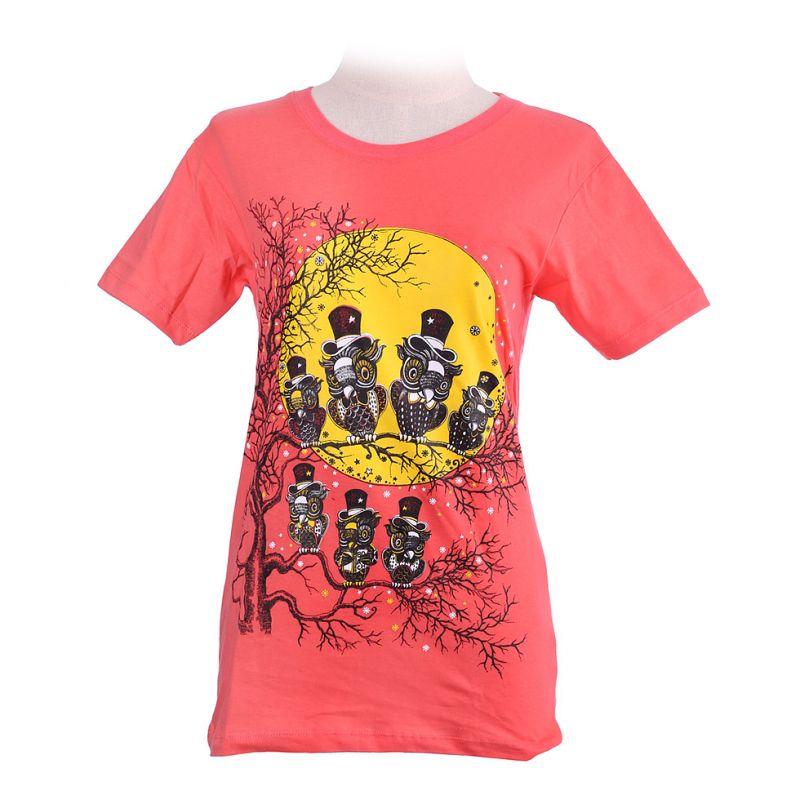 Dámské tričko Full Moon Pink