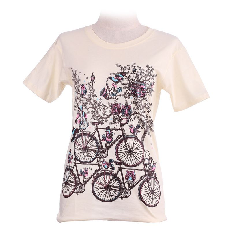 Dámské tričko Bicycles Light Yellow