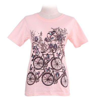 Tričko Bicycles Light Pink