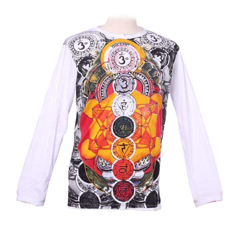 Tričko Mirror s dlouhým rukávem - Chakras