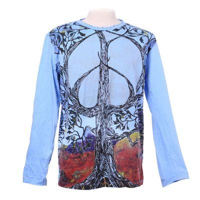 Tričko Tree of Peace Blue - dlouhý rukáv