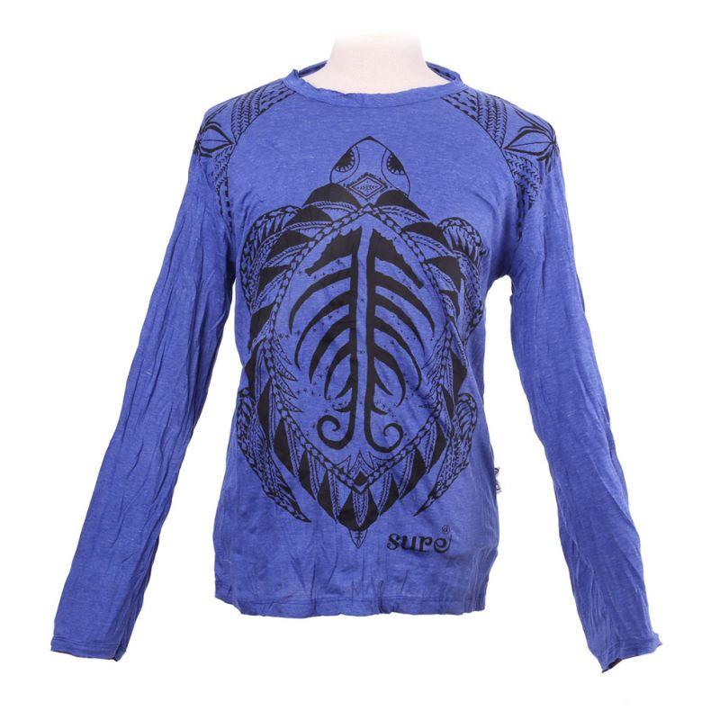 Pánské tričko Sure s dlouhým rukávem - Turtle Blue