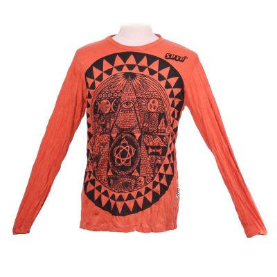 Tričko Pyramid Orange - dlouhý rukáv