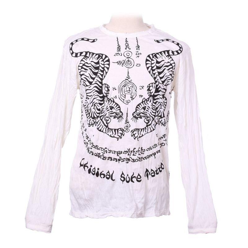 Pánské tričko Sure s dlouhým rukávem - Tigers White