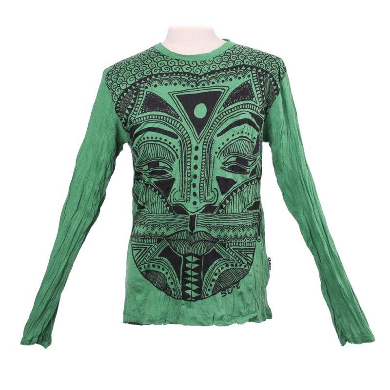Pánské tričko Sure s dlouhým rukávem - Khon Mask Green