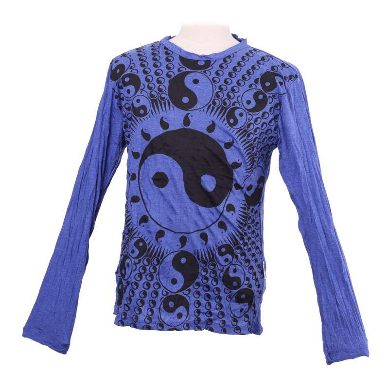 Pánské tričko Sure s dlouhým rukávem - Yin&Yang Blue