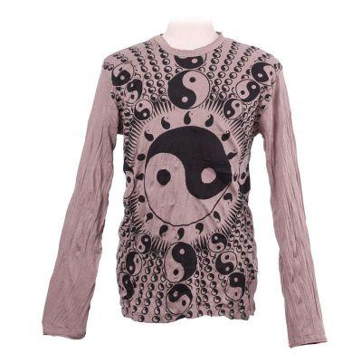 Tričko Yin&Yang Brown - dlouhý rukáv