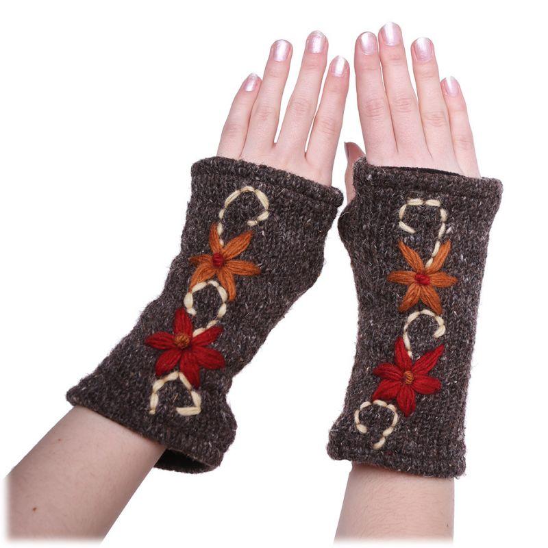 Vlněné návleky na ruce Umanga Senin